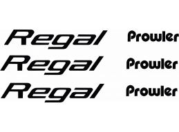 Prowler REGAL Camper Decals 6pc