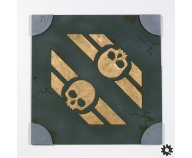 "Urban Streets 4-Way ""Double Skull"" Tile"