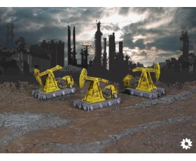 Industrial Pumpjacks 3-Pack