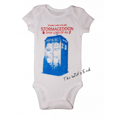 Stormageddon and TARDIS onesie