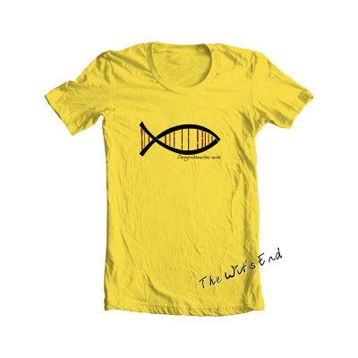 DNA Fish hand screened tee
