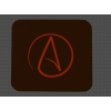 Atheist symbol mouse pad