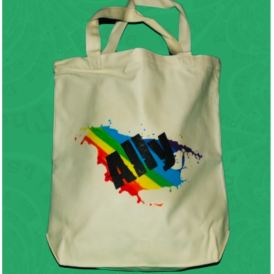 LGBTQ Ally canvas tote bag