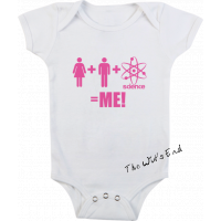 Mommy + Daddy + Science = Me onesie