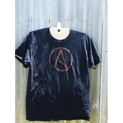 Atheism symbol discharge tee