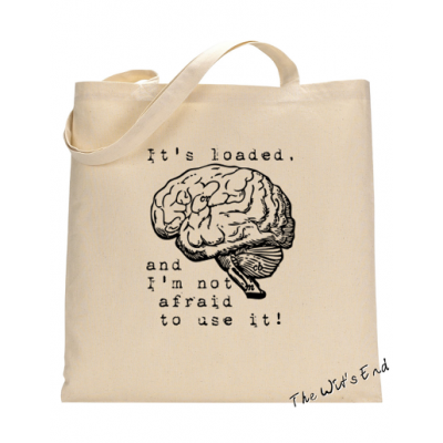 It's loaded, and I'm not afraid to use it Canvas Tote Bag