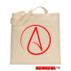 Atheist Symbol Canvas Tote Bag