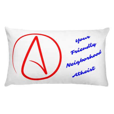Throw Pillow, Rectangular, Friendly Neighborhood Atheist
