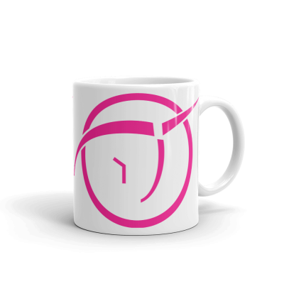 Invisible Pink Unicorn Symbol 11oz Ceramic Mug