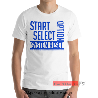Start, Select, Option, System Reset - Atari 8-bit tee