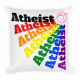 Premium Throw Pillow, Square - Rainbow Atheist w..