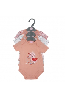 Bodysuit Set Baby Girls Bird 3 Pack