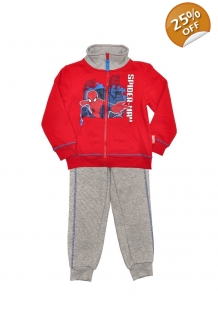 Boys Spider-Man Red/Grey Jog Set