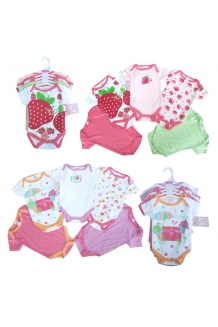 Bodysuit set Baby Girls 5PK mixed theme