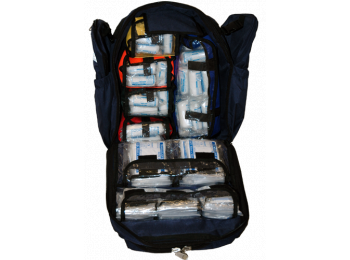 Emergency Grab Bag + 100 person First Aid Kit
