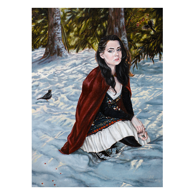 Christina Ridgeway - Into the Woods We Go - Original Painting