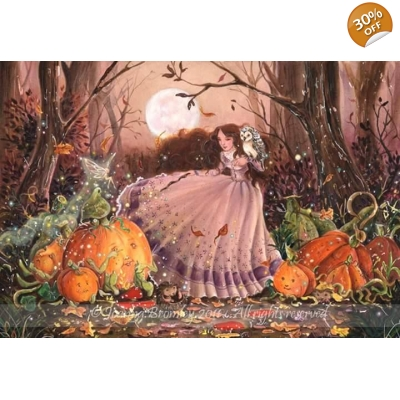 Joanna Bromley - Autumn Faery Witch - Original Painting