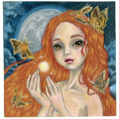 Joan Diwa - Moonlight Magic - Original Painting