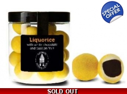 Liquorice With White Choc And Passion Fruit 150g..