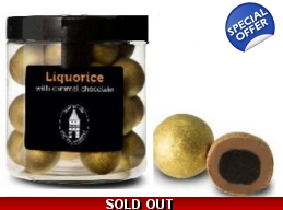 Liquorice With Caramel Chocolate 150g Gift Jar