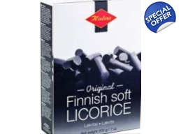 Original Finnish Soft Liquorice Box 200g BBE Sept 2017