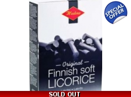 Original Finnish Soft Liquorice Box 200g BBE Sep..