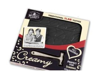 Walkers Nonsuch Loverly Liquorice Toffee Slab With Hammer 400g