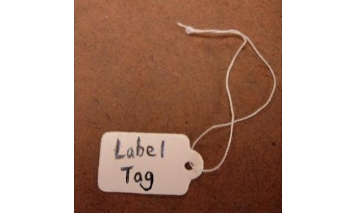 "Label Tag With String 100pcs 1""x1/2""  No Gun Required"