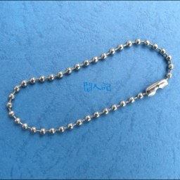 Silver Tone Ball Chains Tag ..