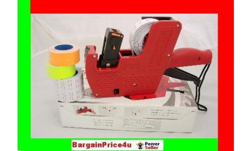 8-DIGITS LABELER 5 rolls MIXED COLOR LABEL label gun