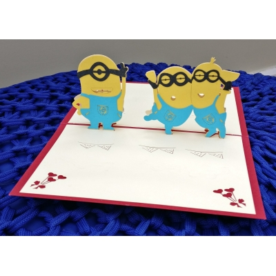 3D pop up minion c..
