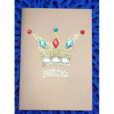 Braille crown card..