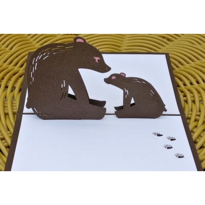 3D pop up bear card