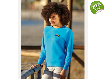 387200bb Lady Fit Lightweight Raglan Sweatshirt