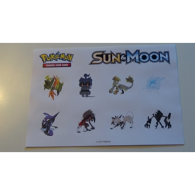 Sun & Moon Stickers Pokemon Pokémon
