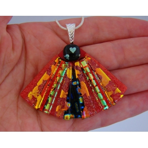 Red Dichroic Glass Pend..