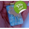 Gold Flamingo Dichroic Glass Pendant includes ne..