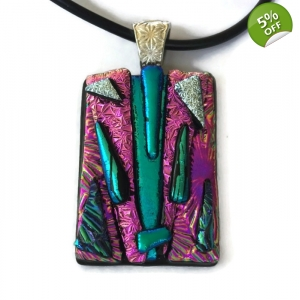 Dichroic Glass Pendant inclu..