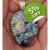 Teardrop Colourful Collage Dichroic Glass Pendan..