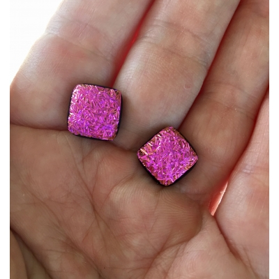 Dichroic Glass Sugical Steel Studs