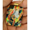 Butterfly Dichroic Glass Pendant includes necklace