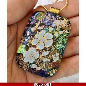 Large Floral Dichroic G..