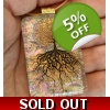 Tree of Life Dichroic Glass Pendant includes nec..