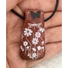 Slide Dichroic Glass Pendant includes necklace