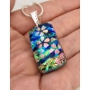 Blossoms Dichroic Glass Pendant includes necklace