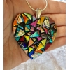 Kaden's Creations Dichroic Glass Pendant includes necklace