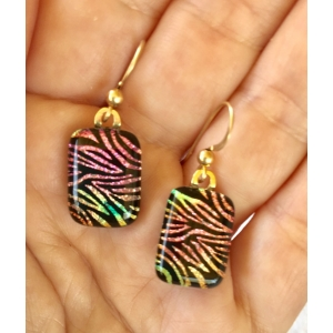 Dichroic Glass Earrings with..