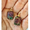 Dichroic Glass Earrings with Quality 14k gold filled hooks