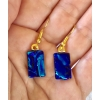 Dichroic Glass Earrings with Surgical Steel Hooks