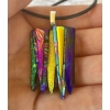 Small Dichroic Glass Pendant includes necklace, Picasso Style